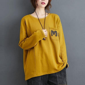 100% Cotton Women Casual Sweatshirt Style O-neck Loose Female Long Sleeve Pullovers Hoodies