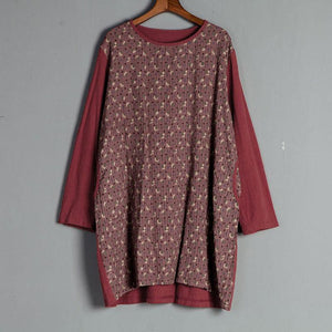 Casual Long Sleeve Red Floral Autumn  Dress