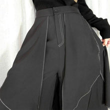 Load image into Gallery viewer, Irregular Women Pants Fashion New Women Patchwork Elastic Waist 2020 Winter Pleated Goddess Fan Casual Style Pants
