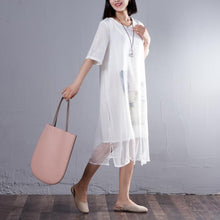 Load image into Gallery viewer, Casual False Two Piece Round Neck Short Sleeve Dress
