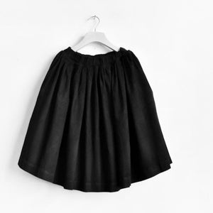 2016 Black cotton skirts summer A line skirts pleated cotton skirts