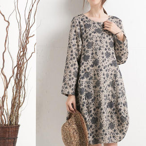 Cotton floral shift dress plus size spring dresses summer clothing