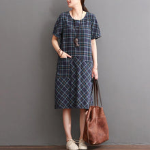 Load image into Gallery viewer, New plaid cotton dress summer casual dresses sundress