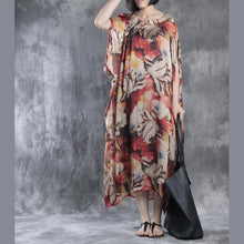 Laden Sie das Bild in den Galerie-Viewer, Unique floral maxi dress oversize dresses asymmetrical caftans