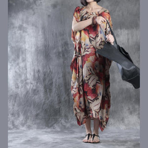 Unique floral maxi dress oversize dresses asymmetrical caftans