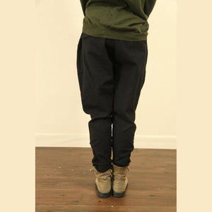 dark khaki linen baggy pockets harem boots pants