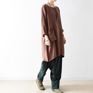 fall chocolate silk shift dress oversize blouse