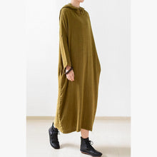 Laden Sie das Bild in den Galerie-Viewer, fall double layerd linen dresses new fabric oversized linen caftans