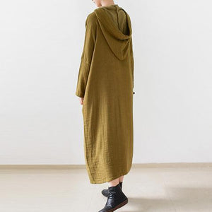 fall double layerd linen dresses new fabric oversized linen caftans