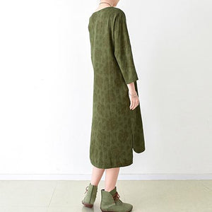 fall grass green cotton dresses plus size linen maxi dress