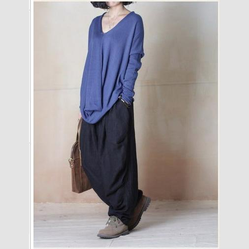 fall pants plus size black linen pants harem trousers