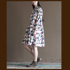 floral cotton summer dress maternity sundress natural cotton clothing