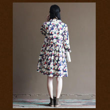 Load image into Gallery viewer, floral cotton summer dress maternity sundress natural cotton clothing