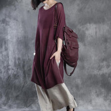 Load image into Gallery viewer, linen dresses half sleeve maxi dress sundresses oversize caftan