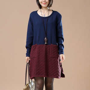 winter dresses navy sweaters new pattern mixed
