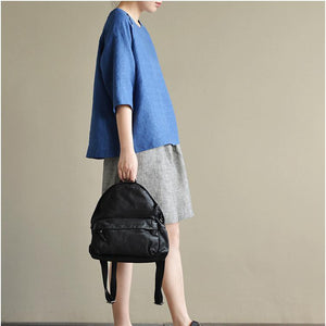 2017 blue jacquard linen tops plus size dotted casual pullover short sleeve t shirt