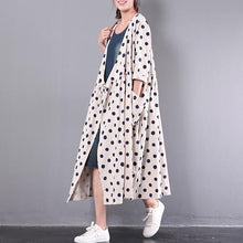 Load image into Gallery viewer, 2017 new white stylish linen dresses plus size outwear long sleeve cardigans maxi dress