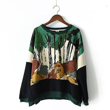 Laden Sie das Bild in den Galerie-Viewer, 2017 the Jungle print cotton sweat shirt plus size tops women casual oversize blouses
