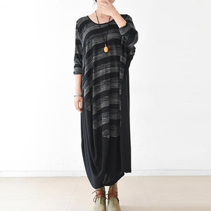 2017 thin spring striped patchwork caftans plus size maxi dresses gowns draping design