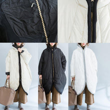 Load image into Gallery viewer, 2017 white casual quilted coat plus size zippered Parka women thick warm trench coat