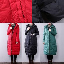 Load image into Gallery viewer, 2018 red women parkas casual hooded Fine Large pockets YZ-2018111408