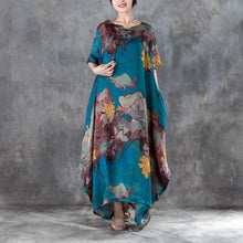 Load image into Gallery viewer, 2018 long chiffon dress sundress plus size Casual Short Sleeve Two-piece Summer Long Dress