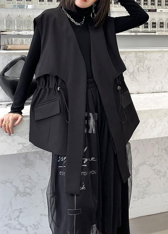 2021 Black Fashion Close Waist Versatile Cotton Jacket