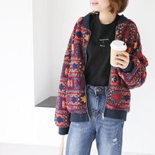 Load image into Gallery viewer, O-Neck Single Baseball Uniform Women Jackets 2020 Autumn Long Sleeve Female Tops Coat