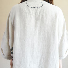 Load image into Gallery viewer, Casual Loose Letter Embroidery Midi Shirt Dress