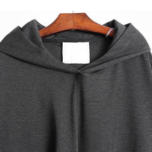 Load image into Gallery viewer, Asymmetrical Casual T Shirt Hooded Collar Long Sleeve Pullover Personality Solid Color