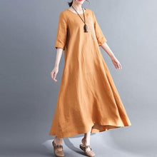 Load image into Gallery viewer, 2020 Simple Style Vintage Embroidery Loose Comfortable Female Casual Dresses