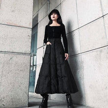 Load image into Gallery viewer, High Waist Skirt Fashion New Women Elastic Waist Black 2020 Winter Pocket Goddess Fan Casual Style Loose Skirt ( Limited Stock)