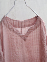 Load image into Gallery viewer, Summer Women Loose Lattice Casual Linen Cotton Pink Dress