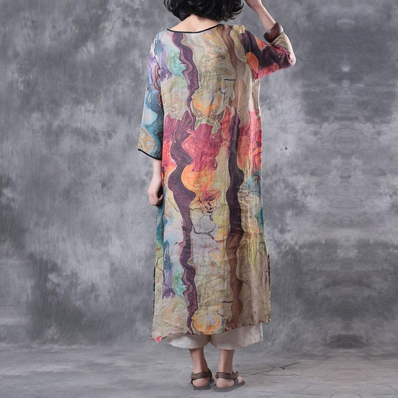 Women Summer Colorful Polyester Dress