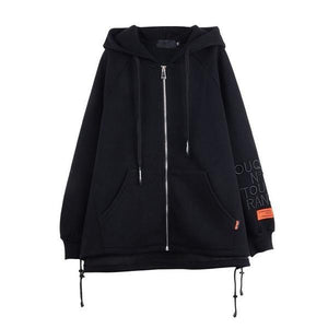 Letter Jacket Fashion New Women Pocket Drawstring Minority 2020 Winter Pleated Solid Color Elegant Loose Coat
