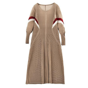 plus size vintage for women casual loose Folds autumn winter dress