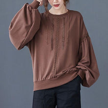 Load image into Gallery viewer, 2020 Autumn Korean Simple Style Vintage Lace Patchwork Loose Female Cotton Pullovers