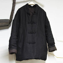 Load image into Gallery viewer, Women Cotton Linen Patchwork Vintage Coats Pockets
