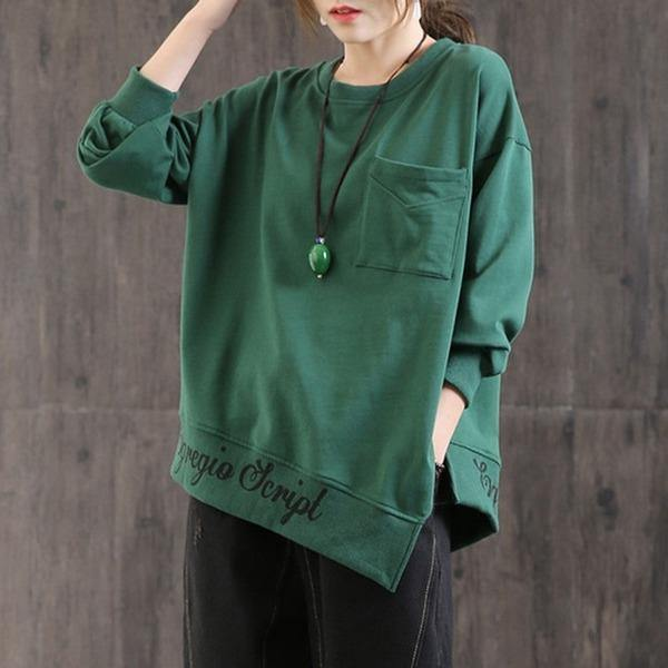 100% Cotton Women Autumn Long Sleeve Sweatshirt  Female Loose Casual Pullovers
