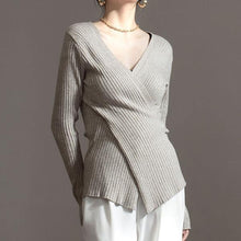 Load image into Gallery viewer, Irregular Knitted Solid Sweater Women 2020 Winter Casual Fashion New Style Temperament All Match Women Clothes