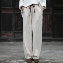 Load image into Gallery viewer, Autumn Winter 2020 New Casual Elastic Waist Lace Up Straight Pants