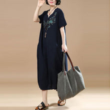 Load image into Gallery viewer, Embroidered Short Sleeve Women Summer Dress
