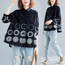 Load image into Gallery viewer, omychic cotton linen spring vintage plus size Casual loose shirt women elegant blouse 2020 clothes ladies tops streetwear