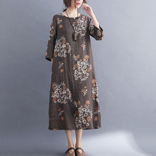 Load image into Gallery viewer, Vintage Floral Print Loose Comfortable Female Casual Dresses