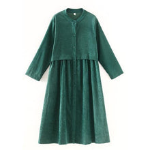 Load image into Gallery viewer, corduroy plus size Oversized vintage women casual loose long autumn spring female trench coat