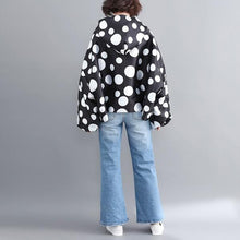 Load image into Gallery viewer, satin plus size vintage Polka Dot hoodie casual Loose Oversized spring Autumn Coat Women Jacket Zipper Clothes 2020 Cardigan