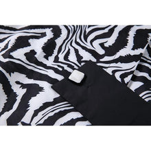 Load image into Gallery viewer, Splicing Irregular l Shirt Turn-down Collar Zebra Pattern Print Autumn and Winter New Loose Fashion
