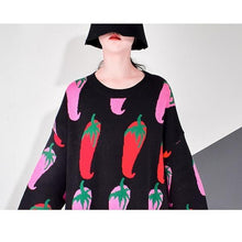 Load image into Gallery viewer, Winter Tide Fashion New Loose Style O Neck Collar Long Sleeve Pillover Elegant