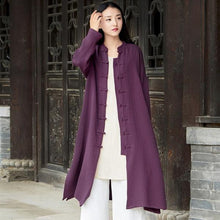 Load image into Gallery viewer, 2020 Autumn New Cotton Linen Long Sleeve Quality Loose Women Coat