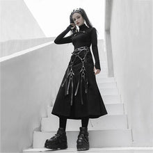 Load image into Gallery viewer, Solid Color Patchwork Slit Skirt Fashion Splicing Bandage Personality Irregular Street Trendy